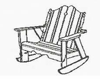 Uwharrie Chair Company�  The Nantucket Collection Two-Seater Rocker