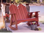 "Uwharrie Chair Company�   ""The Original Series""  Two-Seater Rocker"