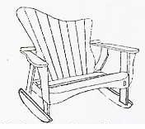 Uwharrie Chair Company�   The Wave Collection  Settee Rocker