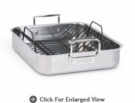 Viking Roasting pan - 3 ply with polished handle
