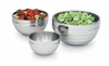 Vollrath Double Wall Insulated Round Beehive 5pc. Serving Bowl Set