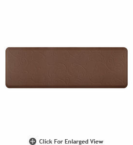 Wellness Mats 6' x 2' Motif - Bella - Brown