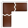 Wellness Mats 6' x 6' PuzzlePiece 2' Wide L Series (3-Piece Corner Mat Set) - Brown
