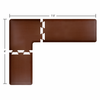 Wellness Mats 7.5' x 6' PuzzlePiece 2' Wide L Series (3-Piece Corner Mat Set) - Brown