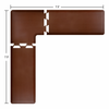 Wellness Mats 7.5' x 7.5' PuzzlePiece 2' Wide L Series (3-Piece Corner Mat Set) - Brown