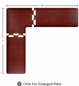 Wellness Mats 7.5' x 7' PuzzlePiece 2' Wide L Series (3-Piece Corner Mat Set) - Burgundy