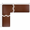 Wellness Mats 7' x 6' PuzzlePiece 2' Wide L Series (3-Piece Corner Mat Set) - Brown