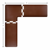 Wellness Mats 7' x 7' PuzzlePiece 2' Wide L Series (3-Piece Corner Mat Set) - Brown