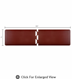 Wellness Mats 8.5' x 2' PuzzlePiece - R Series (2-Piece Runner Mat Set) - Burgundy