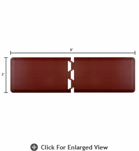Wellness Mats 8' x 2' PuzzlePiece - R Series (2-Piece Runner Mat Set) - Burgundy