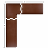 Wellness Mats 8' x 7' PuzzlePiece 2' Wide L Series (3-Piece Corner Mat Set) - Brown