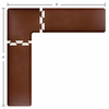 Wellness Mats 8' x 8' PuzzlePiece 2' Wide L Series (3-Piece Corner Mat Set) - Brown