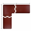 Wellness Mats Puzzle Piece Collection 6.5' x 6' L Series 3-Piece Corner Mat Set - Burgundy