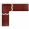 Wellness Mats Puzzle Piece Collection 7.5' x 6.5' L Series 3-Piece Corner Mat Set - Burgundy