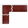 Wellness Mats Puzzle Piece Collection 7.5' x 6' L Series 3-Piece Corner Mat Set - Burgundy