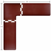Wellness Mats Puzzle Piece Collection 7.5' x 7.5' L Series 3-Piece Corner Mat Set - Burgundy