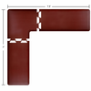 Wellness Mats Puzzle Piece Collection 7.5' x 7' L Series 3-Piece Corner Mat Set - Burgundy