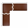Wellness Mats Puzzle Piece Collection 7' x 6.5' L Series 3-Piece Corner Mat Set - Brown