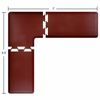Wellness Mats Puzzle Piece Collection 7' x 6.5' L Series 3-Piece Corner Mat Set - Burgundy