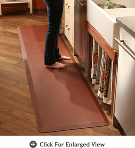 Wellness Mats Puzzle Piece Collection 9.5' Runner Series 2-Piece Mat Set - Brown