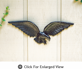 "Whitehall 24"" Patriotic Wall Eagle Black"