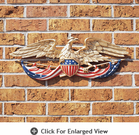 "Whitehall 24"" Patriotic Wall Eagle/Flag Multi-Colored"