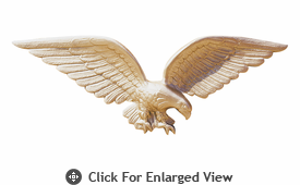 "Whitehall 24"" Patriotic Wall Eagle Gold Bronze"