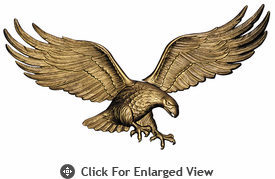 "Whitehall 29"" Patriotic Wall Eagle Antique Brass"