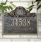 Whitehall  Acanthus Monogram Address Plaques