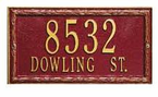 Whitehall   Architectural Address Plaques