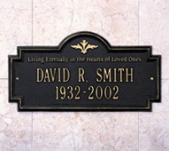 """Whitehall Arlington Standard Wall Plaque """"Living Eternally"""" Two Lines"""