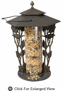 Whitehall Chickadee Silhouette Bird Feeder Oil Rub Bronze