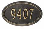 Whitehall  Concord Oval  Address Plaques