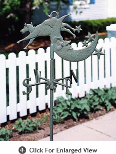 Whitehall  Cow Over Moon Garden Weathervanes