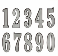 Whitehall DeSign-it Numbers Brushed Nickel