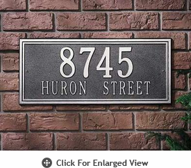 Whitehall Double Line Address Plaques