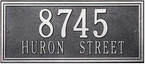 Whitehall   Double Line   Estate Address Plaques