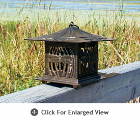 Whitehall Dragonfly Tea Lantern French Bronze