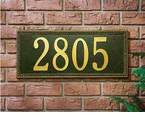 Whitehall   Egg & Dart  Address Plaques