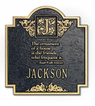 Whitehall  Emerson Monogram  Address Plaque