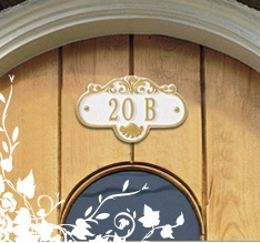 Whitehall Entryway Address Plaques