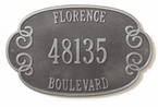Whitehall  Florence Address Plaques