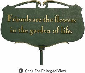 "Whitehall ""Friends are the flowers...""Garden Poem Plaque"