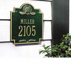 Whitehall   Golf Emblem   Address Plaques