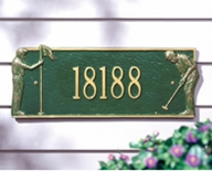 Whitehall Golf Greens Standard Wall Plaque One Line