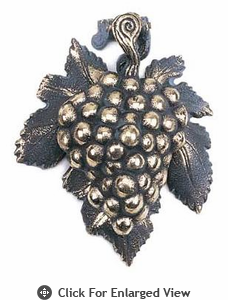 Whitehall Grape Cluster Solid Brass Door Knocker