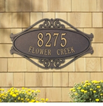 Whitehall  Hackley Fretwork  Address Plaques