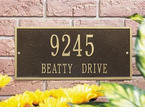 Whitehall   Hartford  Address Plaques