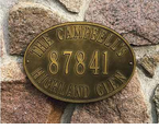 Whitehall  Hawthorne Oval  Address Plaques
