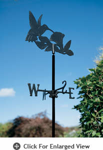 Whitehall Hummingbird Garden Weathervane Black